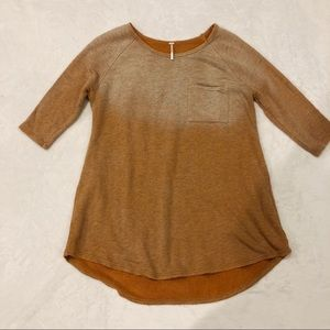 Free People   Ombre Distressed Oversized Sweater M